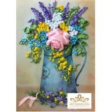 Бродерия с ленти  - Чудесни цветя НЛ-4037