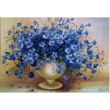 Комплект за рисуване по номера. Сини цветя – GX 22871
