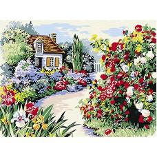 Комплект за рисуване по номера. Цветна градина – ЕX 6082