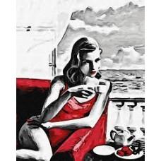 Комплект за рисуване по номера. Красива жена в червено – GX 29769
