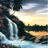 Водопад- диамантен гоблен PZ 0026