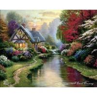 Старата къща в гората - диамантен гоблен PZ 30401