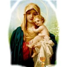 Дева с младеница -диамантен гоблен IK 45164