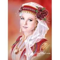 БЪЛГАРСКО МОМИЧЕ -  Диамантен гоблен 34104