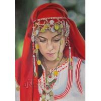 Българска хубавица- Диамантен гоблен LD 304003