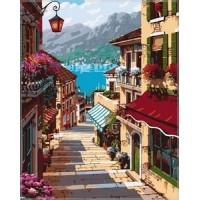 Комплект за рисуване по номера. Улица към морето – GX 7248