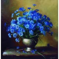 Сини цветя Диамантен гоблен FL 304015