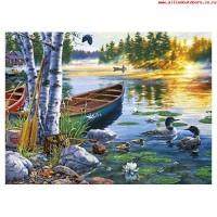 Комплект за рисуване по номера. Езеро с патици – GX 26038