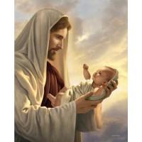 ИСУС С БЕБЕТО - диамантен гоблен 45163