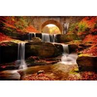 Есенен водопад - диамантен гоблен PZ 60408