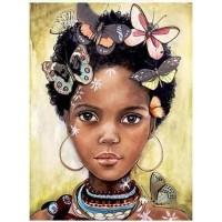 Африканско момиче - диамантен гоблен LD 304048