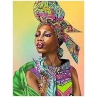 Африканско момиче - диамантен гоблен LD 304049