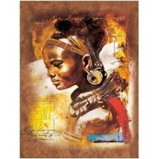 Африканско момиче - диамантен гоблен LD 304050