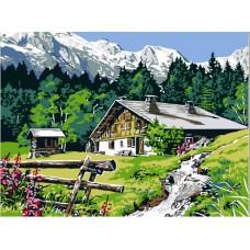 Комплект за рисуване по номера. Планинска къща