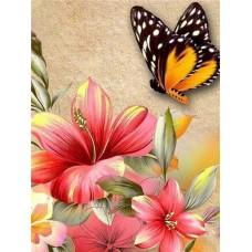 FL 304048 Пеперуди и цветя - Диамантен гоблен