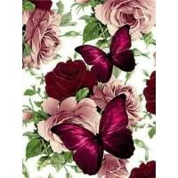 FL 304039 Пеперуди и цветя - Диамантен гоблен