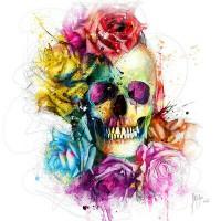 Череп с цветя - Диамантени гоблени FL 30307