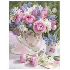 Красив букет от рози- диамантен гоблен FL 304063
