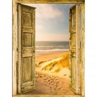 Отворена врата - Диамантен гоблен PZ 34080