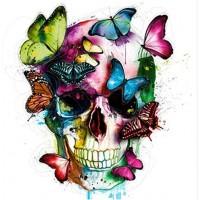 Пеперуди на череп - Диамантени гоблени FL 30304