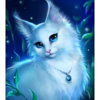 GI 30303 Диамантен гоблен- Бяла котка