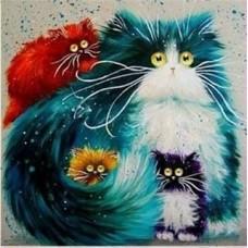 GI 303044  Диамантен гоблен - Мили котенца