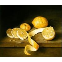 RZ 303014 Диамантен гоблен - Лимони на масата