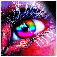 Прекрасни очи- диамантен гоблен LD 30407