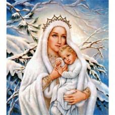 LD 303033 Диамантен гоблен - Снежната кралица с дете