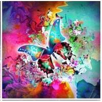 Прекрасна пеперудка- диамантен гоблен LD 304072