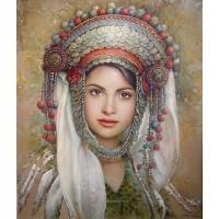 Девойка от плевенския край- диамантен гоблен LD 304059