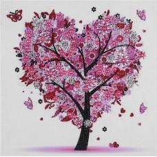 PZ 303059 Диамантен гоблен - Дърво-Сърце