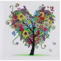 PZ 303060 Диамантен гоблен - Дърво-Сърце