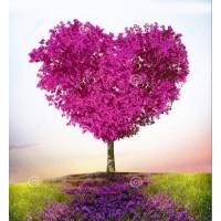 PZ 303063 Диамантен гоблен - Дърво-Сърце