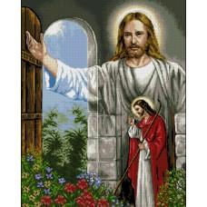 Исус чука във вратата- Диамантен гоблен