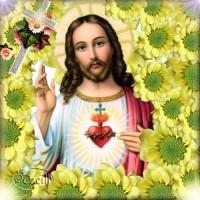 Исус в цветя - диамантен гоблен IK 40405