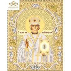 Комплект за бродиране с мъниста - Икона на Свети Николай Чудотворец  НИК- 5325