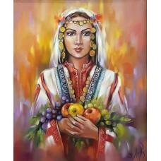 Момиче с ябълки-GX 37969