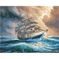 Комплект за рисуване по номера. Кораб с платна – GX 35202