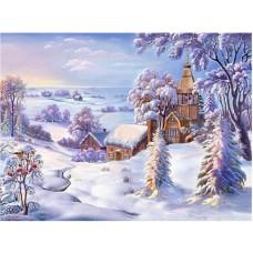 PZ 304097 диамантен гоблен - Зимно село