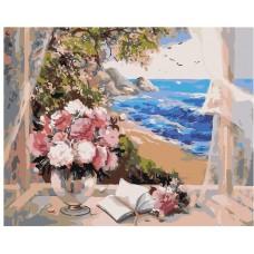 Картина по номера - Цветя на прозореца