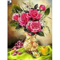 Натюрморт с цветя- диамантен гоблен FL 304065