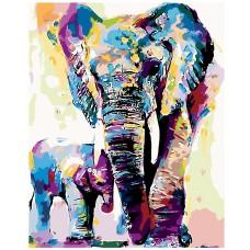 Картина по номера - Семейство слонове Z-1522