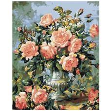 Картина по номера - Рози във вазата Z-022