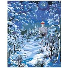 Картина по номера - Църква в снега Z-038