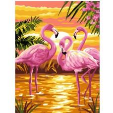 Комплект за рисуване по номера. Фламинго – GX 24159