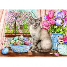 Картина по номера - Великденска котка ZE-3152