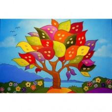Картина по номера - Дъгово дърво ZE 3067