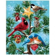 Картина по номера -  Зимни птици ZG-0008