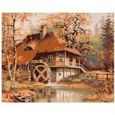 Картина по номера -  Къща с мелница ZG-0181
